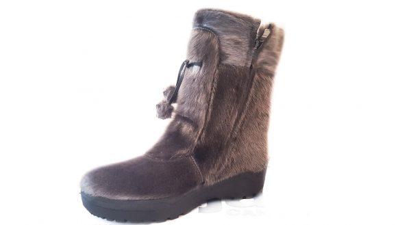 bottes d'hiver pajar alaska en mouton avec crampons argent