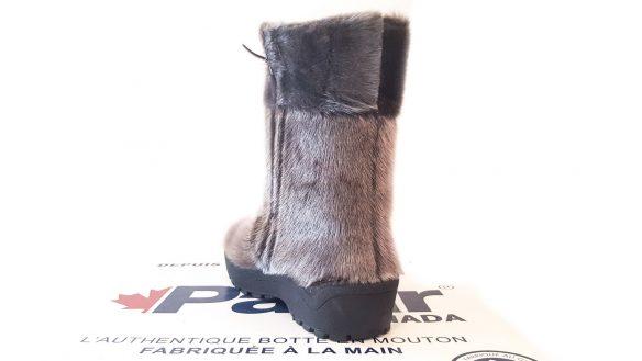 bottes d'hiver pajar alaska en mouton avec crampons argent 7