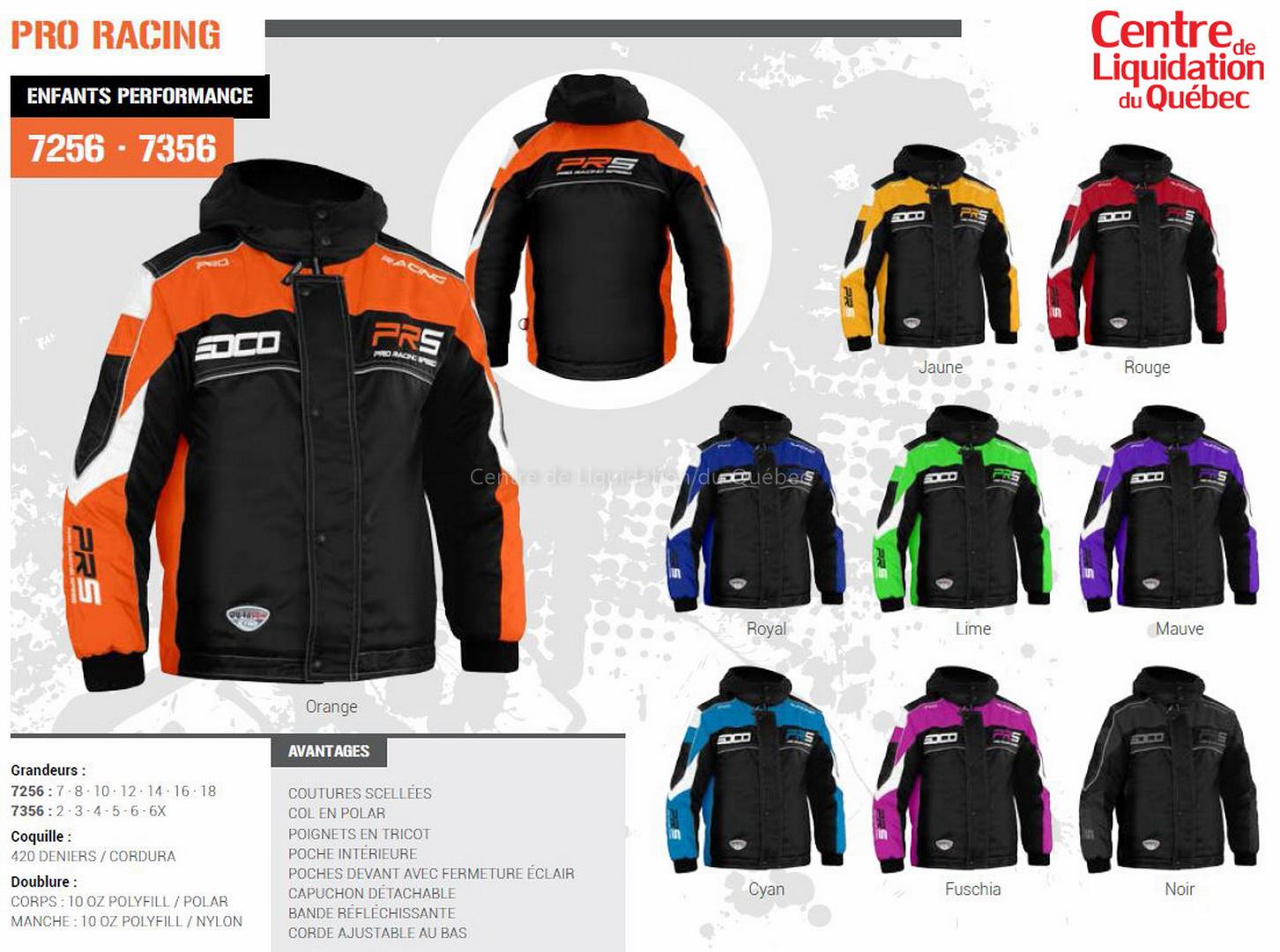 Ensemble de motoneige Pro Racing (EDCO)