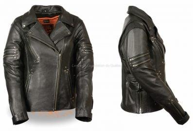Veste de moto pour femmes - Ventilé Biker Jacket - MLL2585