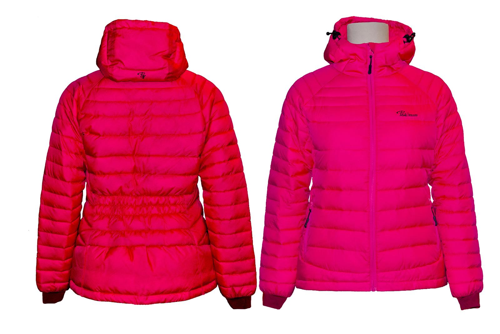 Manteau isolé pour femme PF490 (framboise)