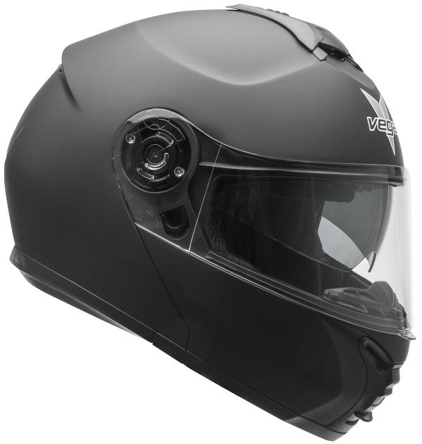Casque modulaire de motoneige et VTT (vitre électrique) VR1 Modular Matte Black