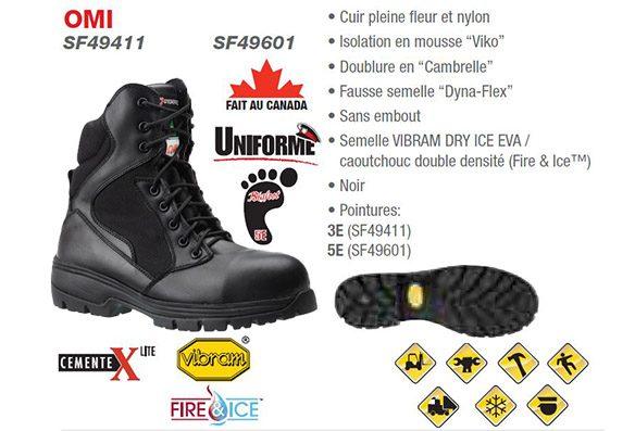 bottes de sécurité - dynamic sf49601 49411