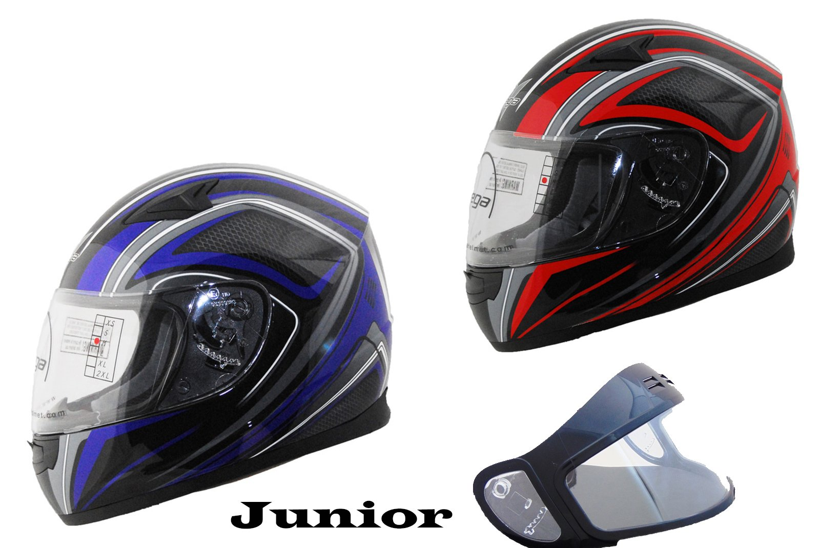 Casque de moto, scooter et VTT Vega Junior