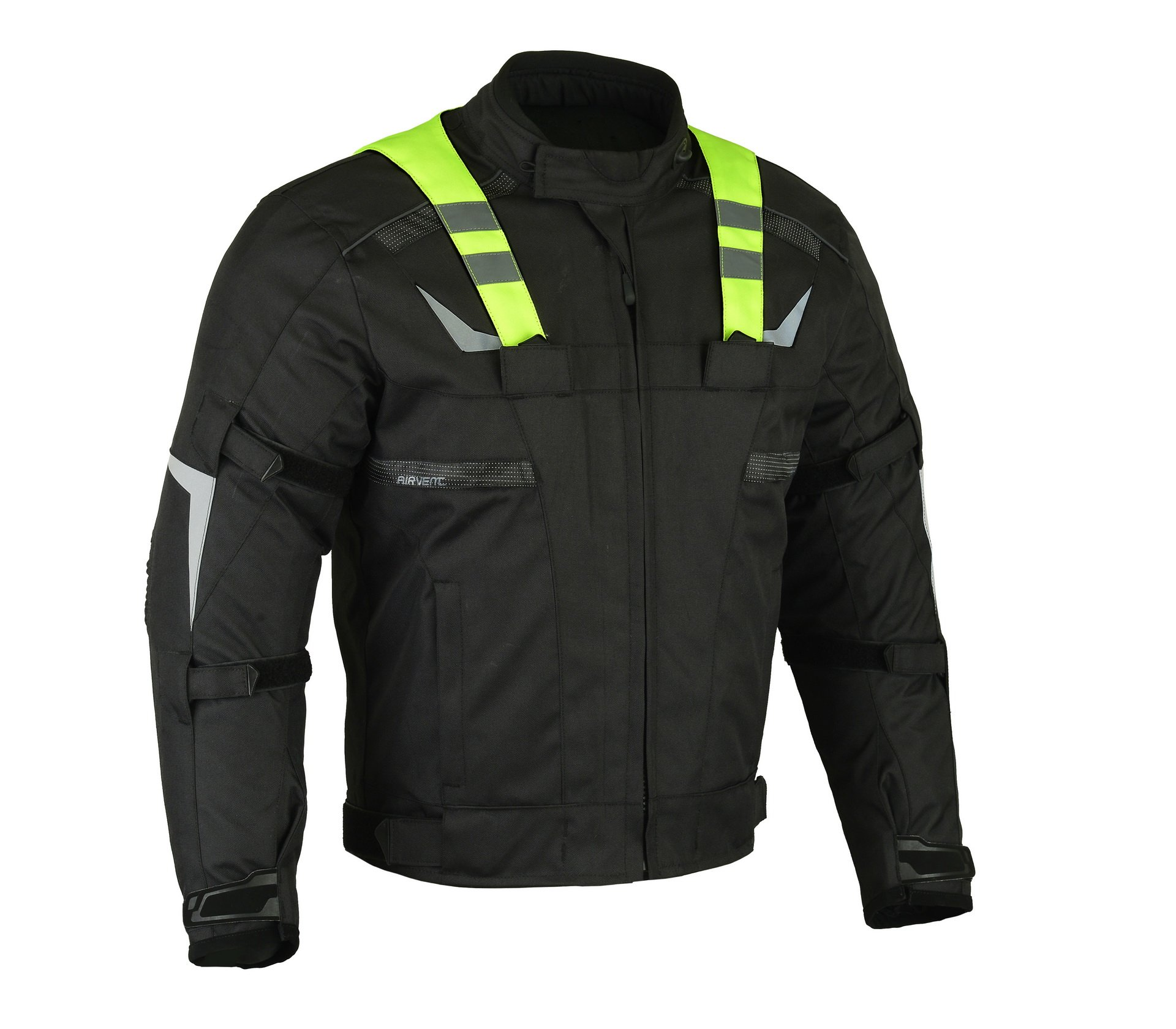 "altimate Mens Daily Urban Touring Motorcycle Jacket ""Green Flash""-front"
