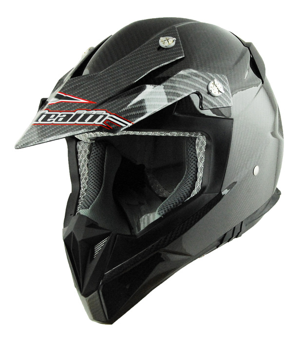 Casque motocross fibre de carbone STEALTH