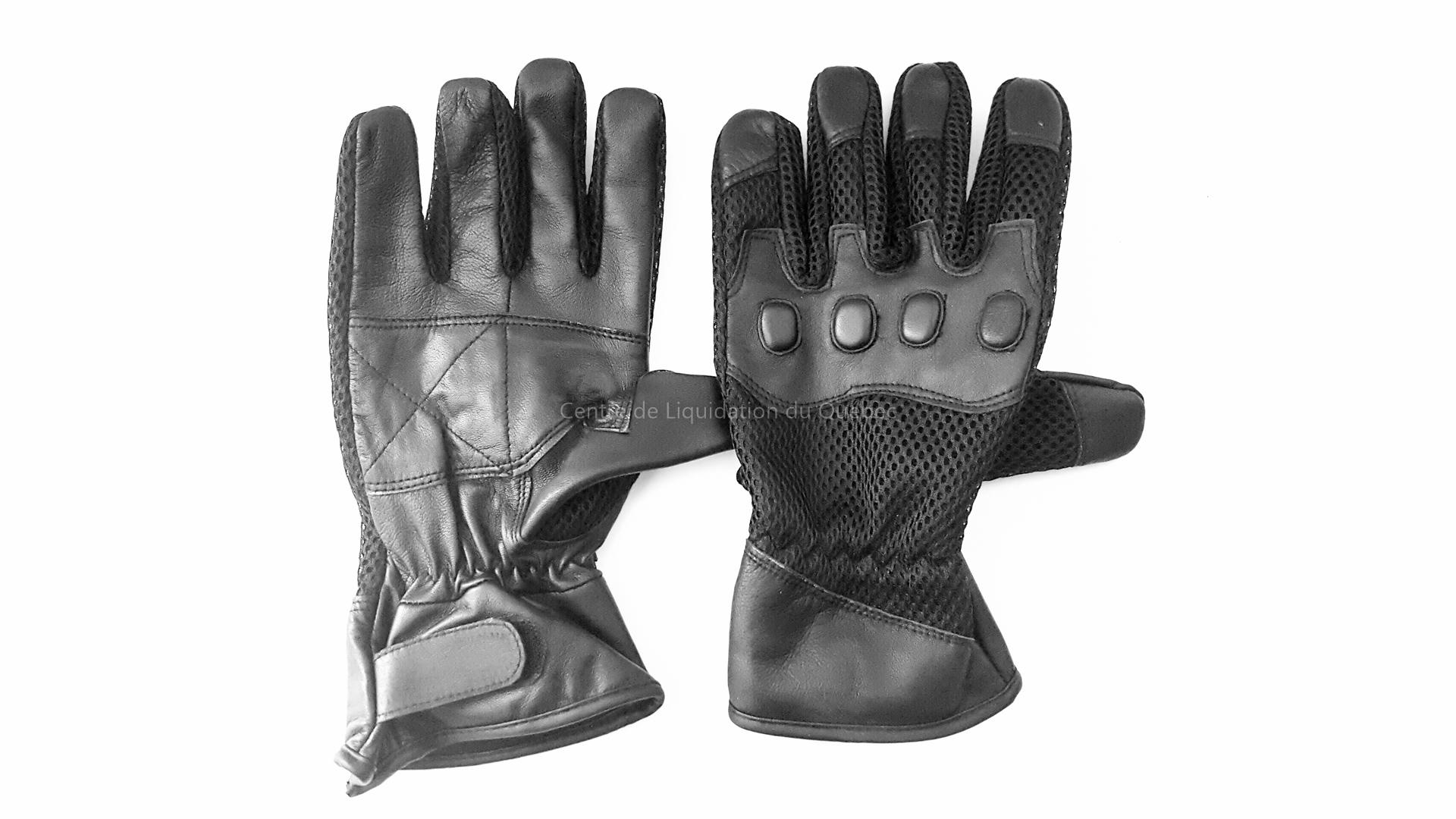 Gants de moto en cuir authentique - G-12