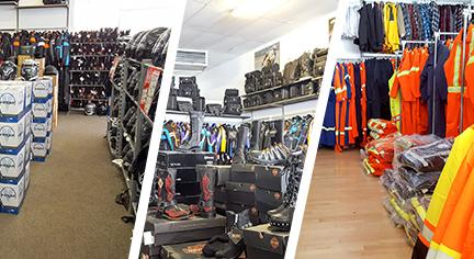 casques, vêtements, bottes, département de travail