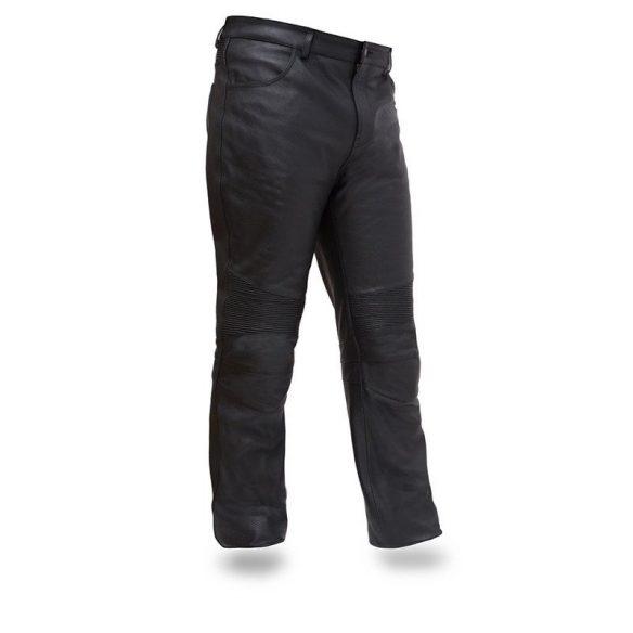 Pantalon Smart en cuir véritable de moto (homme)