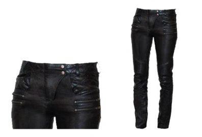 Pantalons de moto cuir veritable