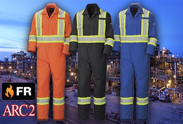 Couvre-tout ignifuge FR 100% coton, ruban réfléchissant 4 bleu+orange+noir