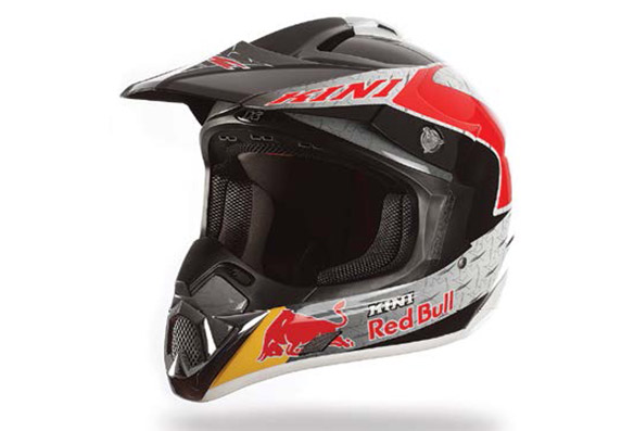 Casque motocross fibre de carbone KINI Red Bull REVOLUTION