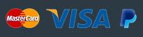 Nous acceptons les paiements par Visa, MasterCard, PayPal