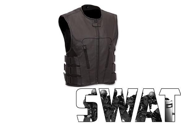 Veste en cuir sans manche - Swat Tactical