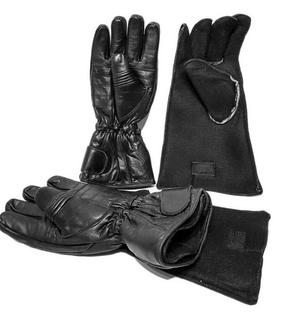 Gants motoneige Gogi en cuir noir
