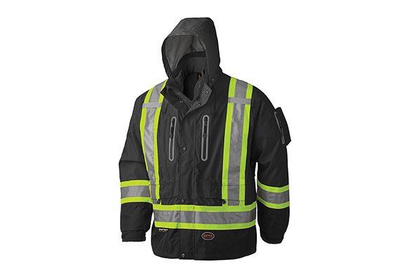 Manteau imperméable et imper-respirant haute visibilité 3-en-1