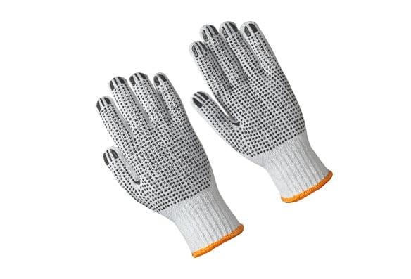 Gants tricoté en coton/polyester, points des deux côtés (12 paires)