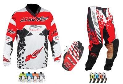 Trio motocross Artrox (Pantalon, Gilet, Gants)