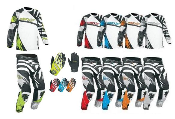 Trio motocross Atrox (Pantalon, Gilet, Gants)