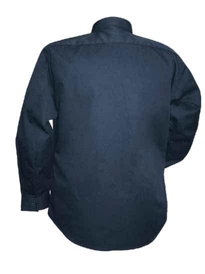 Chemise à manches longues 100% cotton ignifuge