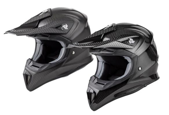 Casque motocross fibre de carbone RIOT (ultraléger)