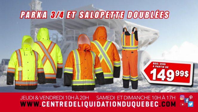 Promotions - Centre de Liquidation du Québec - Août - 2020 - Vêtements doublés