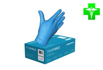 Gants jetables TrioForce Nitrile (caisse de 100 gants)+
