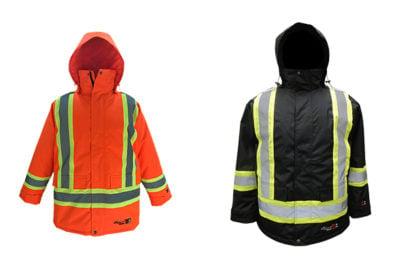 Parka doublé de sécurité ignifuge - orange-noir