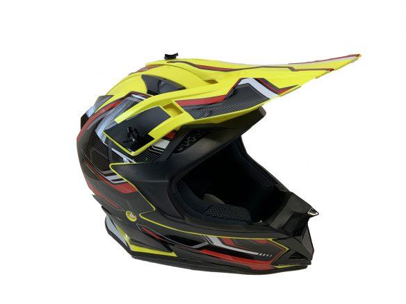 Casque de motocross BFR - jaune