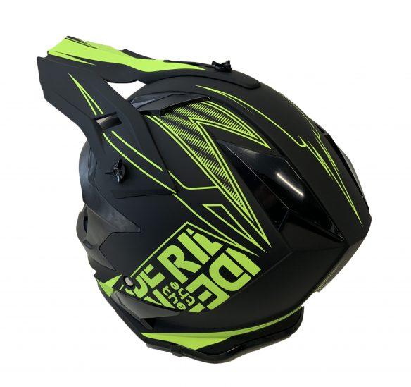 Casque de motocross BFR - vert-noir