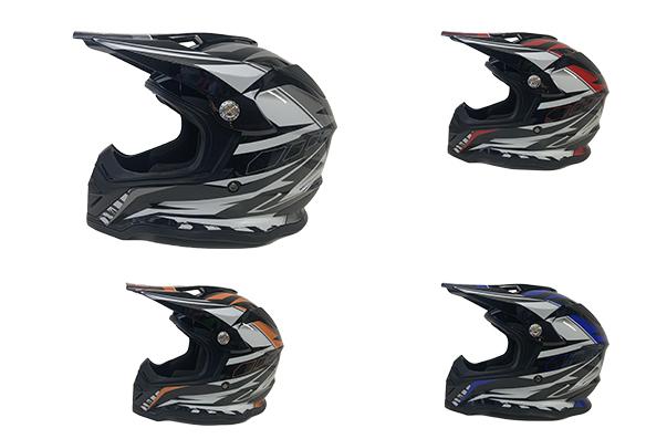 Casque de motocross BFR (aerographique)