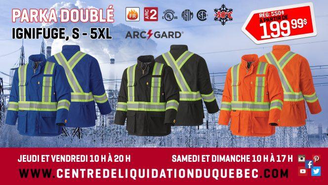 Promotions - Centre de Liquidation du Québec - Septembre - 2021 - Vêtements FR doublés