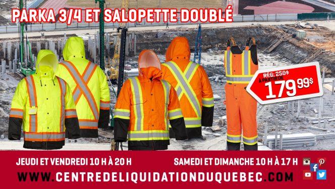 Promotions - Centre de Liquidation du Québec - Septembre - 2021 - Vêtements doublés